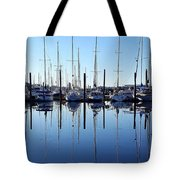 Mirrored Masts  Tote Bag
