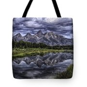 Mirrored Mountains Tote Bag