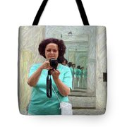 Mirrored Self-portrait Tote Bag