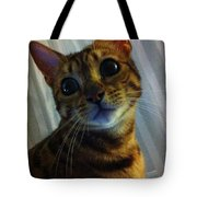 Mischievous Bengal Cat Tote Bag