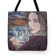 Misha The Cat Woman Tote Bag