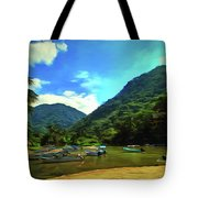 Mismaloya River Fishing Boats 0344 Tote Bag