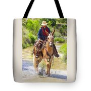 Miss Aleto And The Cowboy Iv Tote Bag