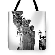Miss Liberty And The Immigrant Family Tote Bag
