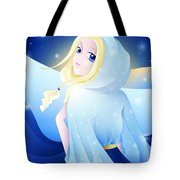 Miss Winter-night Tote Bag