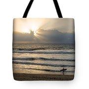 Mission Beach Surfer Tote Bag