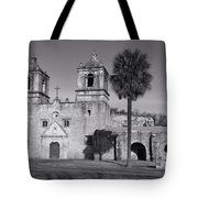 Mission Concepcion -- Bw Tote Bag