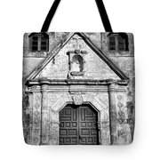 Mission Concepcion Entrance - Bw Tote Bag