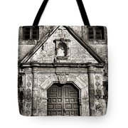 Mission Concepcion Front - Toned Bw Tote Bag