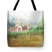 Mission In The Fog Tote Bag