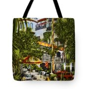 Mission Inn Spanish Patio 1940s Tote Bag