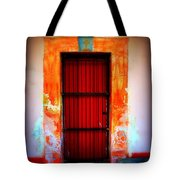 Mission Red Door Tote Bag