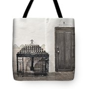 Mission San Diego - Confessional Door Tote Bag