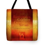Mission Words, Spanish Tote Bag