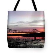 Mississippi River At Savanna Tote Bag