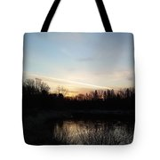 Mississippi River Colorful Dawn Clouds Tote Bag