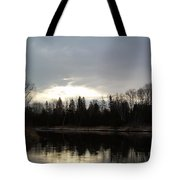 Mississippi River Dawn Clouds Tote Bag