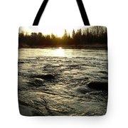 Mississippi River Dawn Reflection Tote Bag
