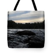 Mississippi River Dawn Sky Tote Bag
