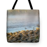 Mississippi River Duck Duck Dawn Tote Bag