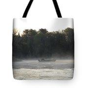 Mississippi River Fisherman At Dawn Tote Bag