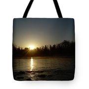 Mississippi River Golden Sunrise Tote Bag