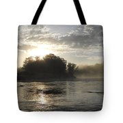 Mississippi River June Sunrise Reflection Tote Bag