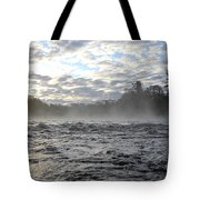 Mississippi River Mist Over Rushing Water Tote Bag