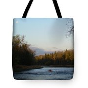 Mississippi River Moon At Dawn Tote Bag