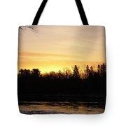 Mississippi River Orange Sky Tote Bag