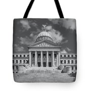 Mississippi State Capitol Bw Tote Bag