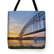Mississippi Sunrise Crossing Tote Bag