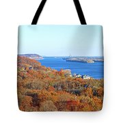 Mississippi Views From Grafton Bluffs Tote Bag