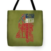 Mississippitypographic Map Tote Bag