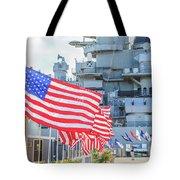 Missouri Battleship Memorial Flags Tote Bag