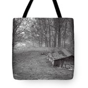 Mist Field And Barn Tote Bag