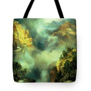 Mist In The Canyon Tote Bag