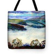Mist In The Exe Valley In Exeter Devon Tote Bag