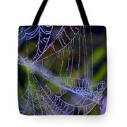 Mist In The Web  Tote Bag