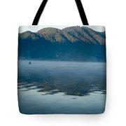 Mist On Lake Atitlan Guatemala Tote Bag