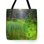 Mist On The Meadow  Tote Bag
