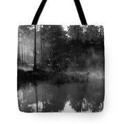 Mist On The Pond Tote Bag