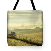 Mist Over Clackmannan Tote Bag