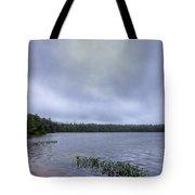 Mist Over Nicks Lake Tote Bag