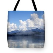 Mist Over Priest Lake Tote Bag