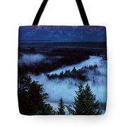 Mist Over Snake River, Sunrise Light Tote Bag