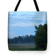 Mist Rolls In And Blue Sky At Sunset Tote Bag