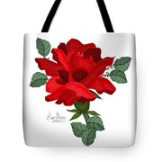 Mister Lincoln In The Garden Tote Bag