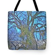 Mistletoe Tree Tote Bag