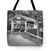 Misty Afternoon At Burkholder Black And White Tote Bag